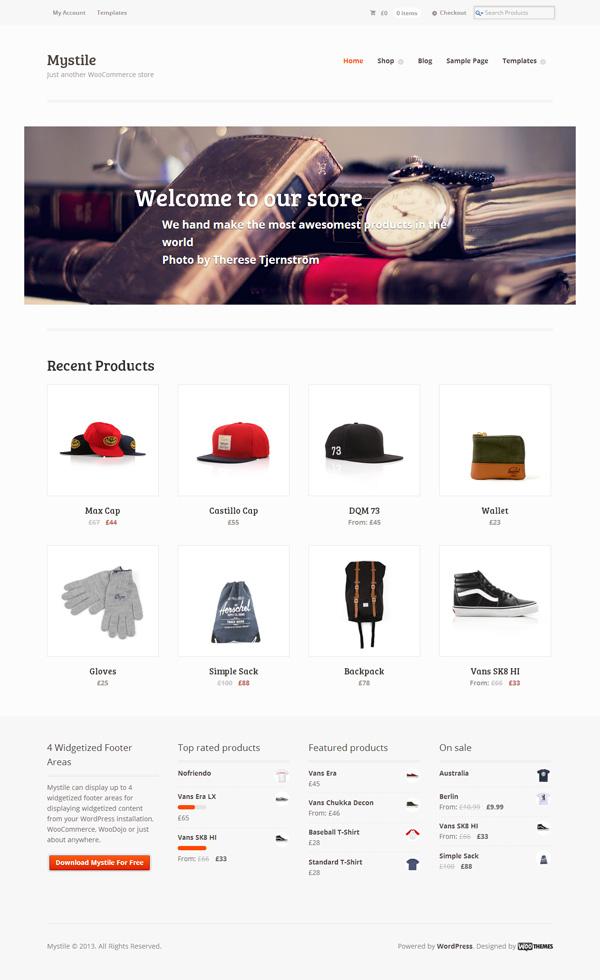 3 Mystile主题3 - WooCommerce购物商城的WordPress主题
