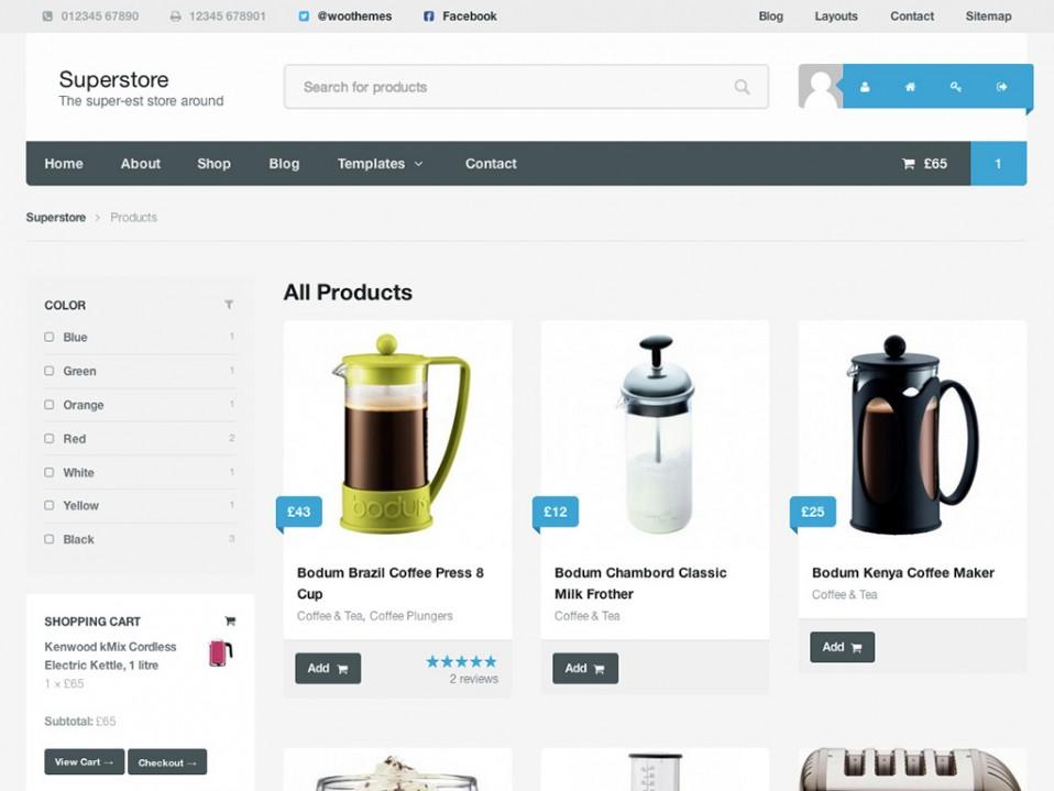 6 Superstore主题6 - WooCommerce购物商城的WordPress主题