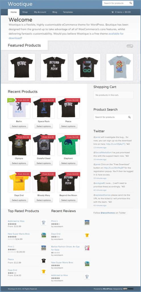7 Wootique主题7 - WooCommerce购物商城的WordPress主题
