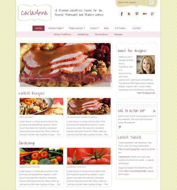 餐馆网站样本展示 5 (样本展示)