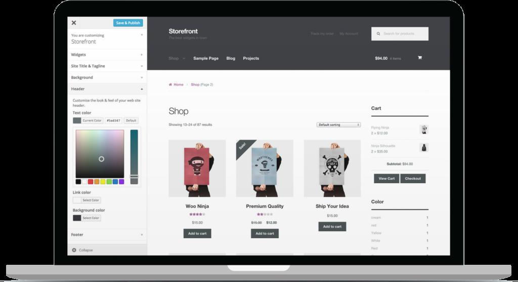 storefront主题 - 免费用WooCommerce搭建WordPress电子商务网站或商城服务