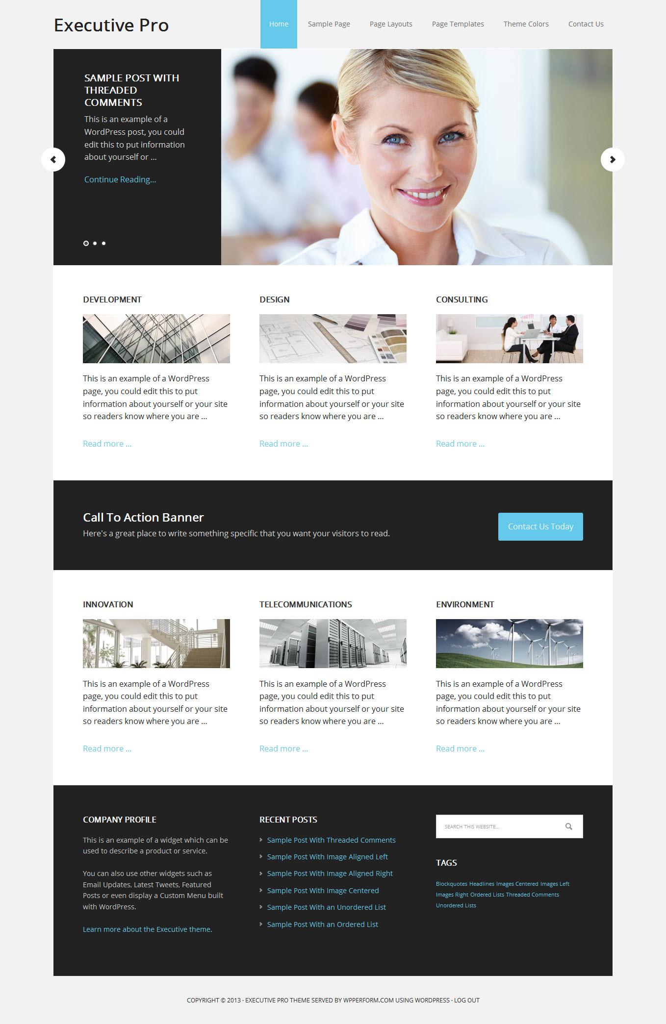 用WordPress创建企业网站, 公司网站, 或外贸网站主题