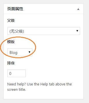 WordPress 模板 Blog
